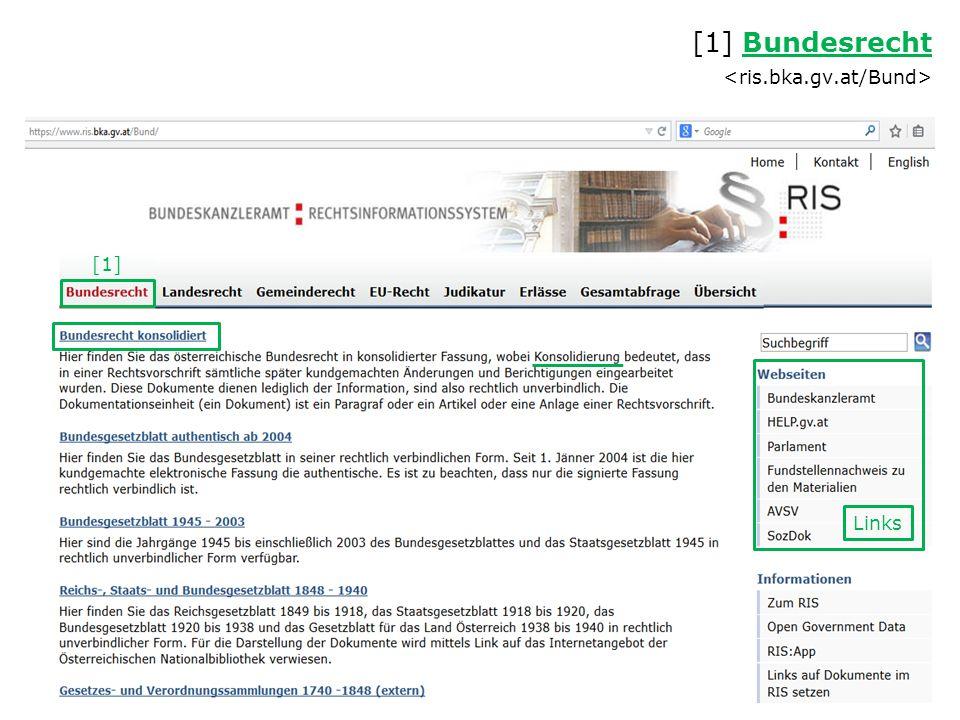 [1] Bundesrecht <ris.bka.gv.at/Bund>